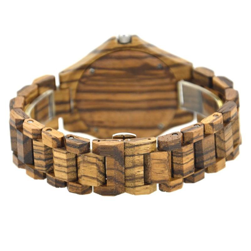 Đồng hồ nam đeo tay bằng gỗ, Đồng hồ gỗ hương vân có lặn mã 100BG bewell 5