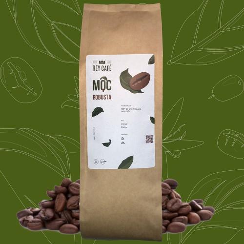 Cà phê Mộc Robusta - Gói 500gr - Coffee Nguyên chất rang mộc - Rey Cafe