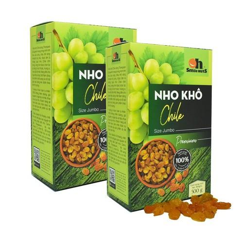 Combo 2 Hộp Nho khô Chile Thượng Hạng Smile Nuts 500g - 9022016 , 18682779 , 15_18682779 , 365000 , Combo-2-Hop-Nho-kho-Chile-Thuong-Hang-Smile-Nuts-500g-15_18682779 , sendo.vn , Combo 2 Hộp Nho khô Chile Thượng Hạng Smile Nuts 500g
