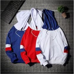 Áo hoodie nam nữ phối hai sọc tay