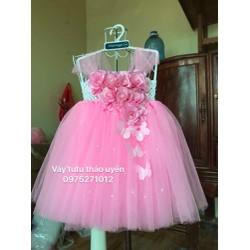 váy hoa hồng 8b cho bé 1 tuổi
