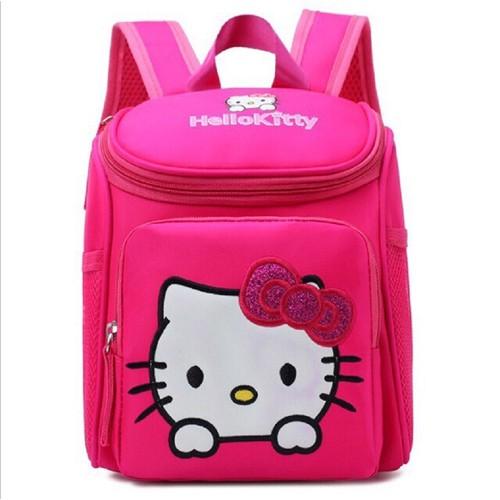 Ba lô Hello kitty màu hồng đậm cho bé gái