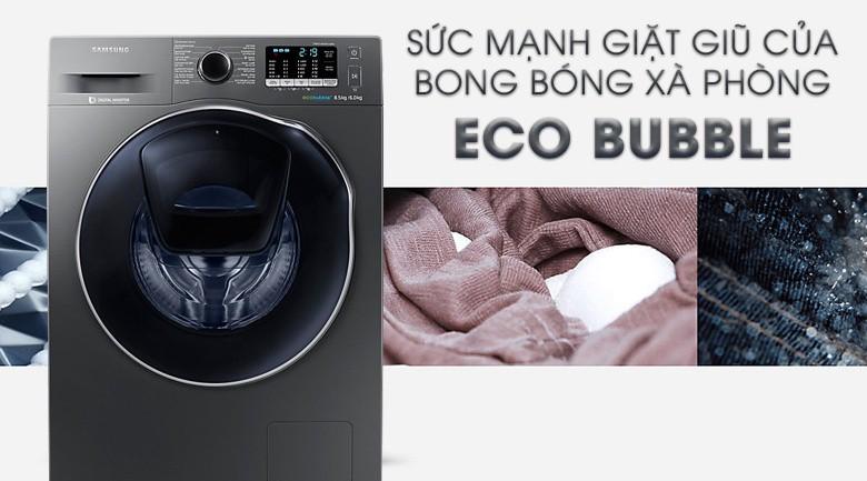 Chế độ giặt bong bóng - Máy giặt sấy Samsung AddWash Inverter 8 kg WD85K5410OX/SV