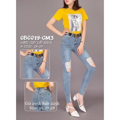 Quần jeans nữ dài rách cá tính - 9031939 , 18696967 , 15_18696967 , 169000 , Quan-jeans-nu-dai-rach-ca-tinh-15_18696967 , sendo.vn , Quần jeans nữ dài rách cá tính