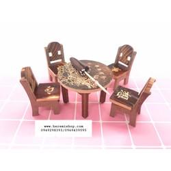 Bộ bàn ghế Trung hoa mô hình tiểu cảnh