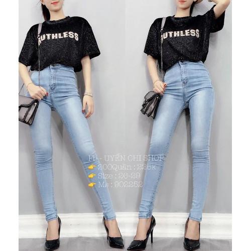 Quần jeans nữ dài lên form chuẩn