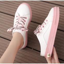 giày sục sọc hồng phong cách thể thao hàn quốc siêu sinh