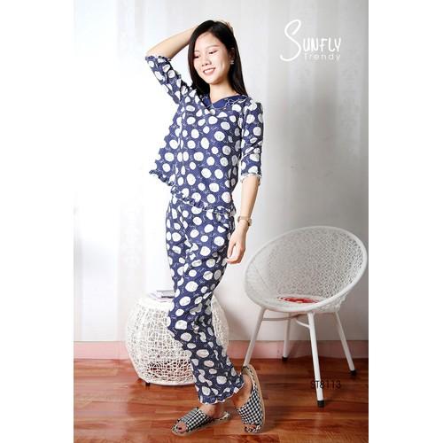 Bộ quần áo mặc nhà Sunfly Trendy áo dài tay, quần dài- mã sp ST8113 - 10630740 , 18684300 , 15_18684300 , 465000 , Bo-quan-ao-mac-nha-Sunfly-Trendy-ao-dai-tay-quan-dai-ma-sp-ST8113-15_18684300 , sendo.vn , Bộ quần áo mặc nhà Sunfly Trendy áo dài tay, quần dài- mã sp ST8113