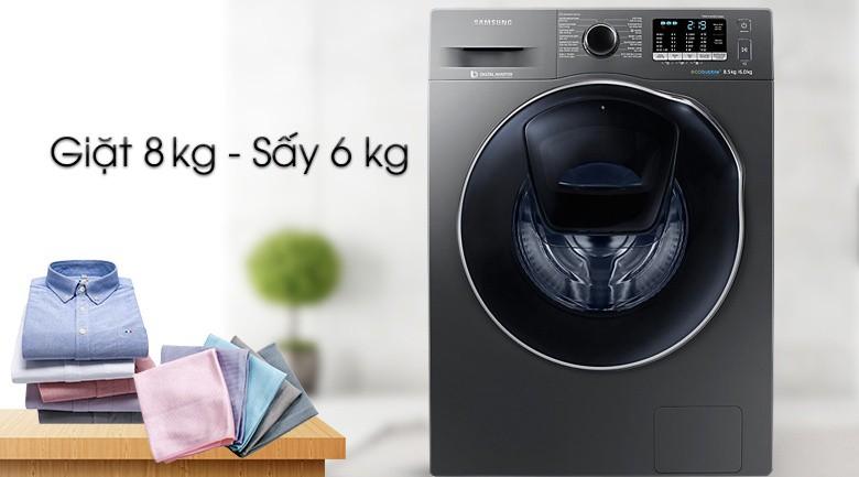 Cửa phụ Add door - Máy giặt sấy Samsung AddWash Inverter 8 kg WD85K5410OX/SV