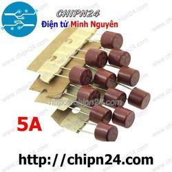 [2 CÁI] Cầu Chì Tròn 8x8mm 5A 250V