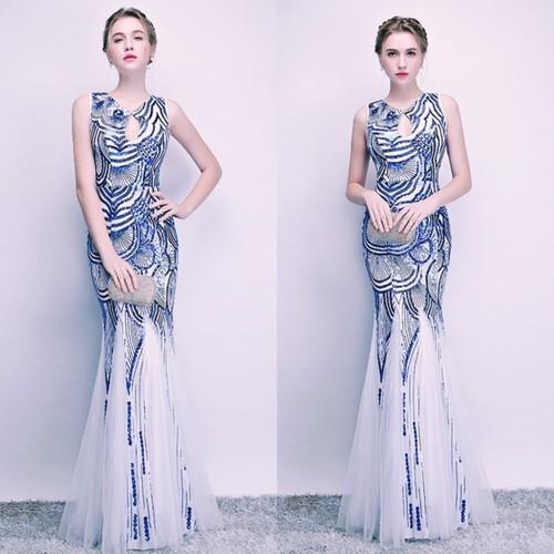 Đầm dạ hội đính kim sa cao câp SN 54