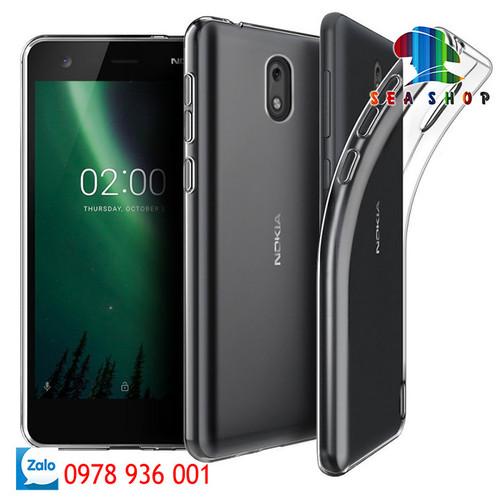 [SEASHOP] Bộ 2 ốp silicon dẻo Nokia 2 trong suốt