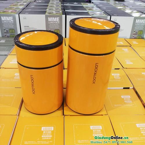 Bình ủ cháo giữ nhiệt 1000ml Lock&Lock Food Jar LHC8023 màu vàng