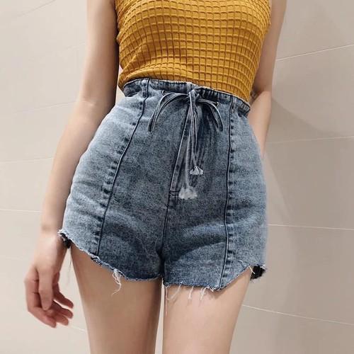 Quần short jean nữ xám gợi cảm