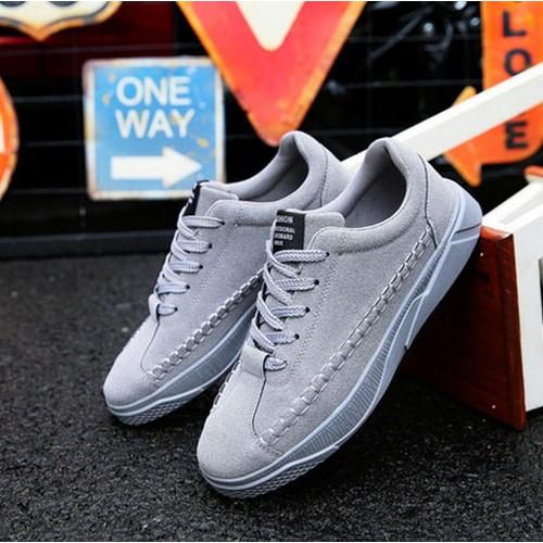 giày thể thao nam full xám gg390 MĐ | giày nam | giày thể thao