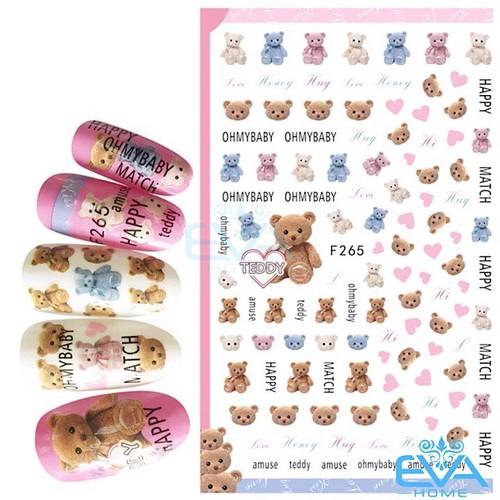 Miếng Dán Móng Tay 3D Nail Sticker Tráng Trí Hoạ Tiết Chú Gấu Dễ Thương Cute Bear F265 - 9046529 , 18718244 , 15_18718244 , 35000 , Mieng-Dan-Mong-Tay-3D-Nail-Sticker-Trang-Tri-Hoa-Tiet-Chu-Gau-De-Thuong-Cute-Bear-F265-15_18718244 , sendo.vn , Miếng Dán Móng Tay 3D Nail Sticker Tráng Trí Hoạ Tiết Chú Gấu Dễ Thương Cute Bear F265