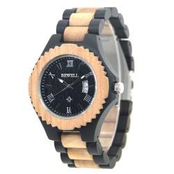 Đồng hồ nam bằng gỗ mun bewell