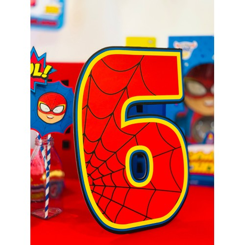 Số tuổi sinh nhật Kibu - Siêu Nhân 6 tuổi