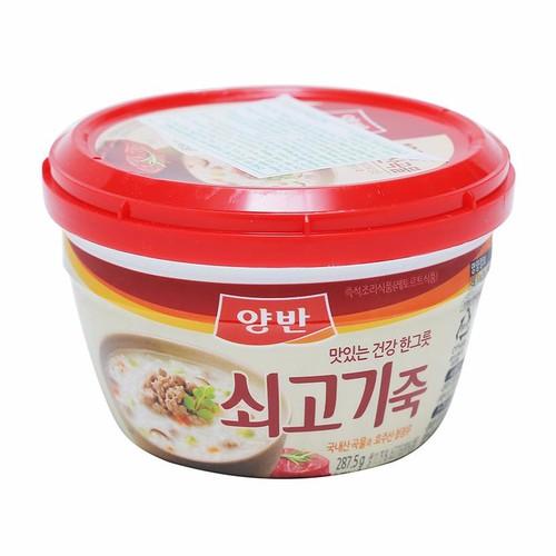 Combo 5 Cháo Ăn Liền Vị Bò Yangban Rice Porridge With Beef 287.5g