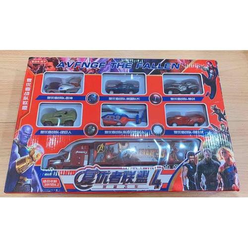 Bộ 7 xe đồ chơi siêu nhân chạy trớn