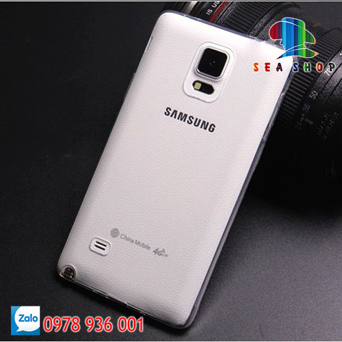 [SEASHOP] Bộ 2 ốp silicon dẻo Samsung Galaxy Note 4 - N910 trong suốt