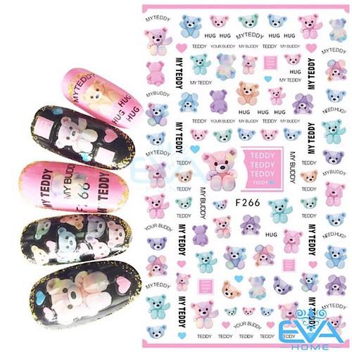 Miếng Dán Móng Tay 3D Nail Sticker Tráng Trí Hoạ Tiết Chú Gấu Dễ Thương Cute Bear F266 - 9046791 , 18718549 , 15_18718549 , 35000 , Mieng-Dan-Mong-Tay-3D-Nail-Sticker-Trang-Tri-Hoa-Tiet-Chu-Gau-De-Thuong-Cute-Bear-F266-15_18718549 , sendo.vn , Miếng Dán Móng Tay 3D Nail Sticker Tráng Trí Hoạ Tiết Chú Gấu Dễ Thương Cute Bear F266
