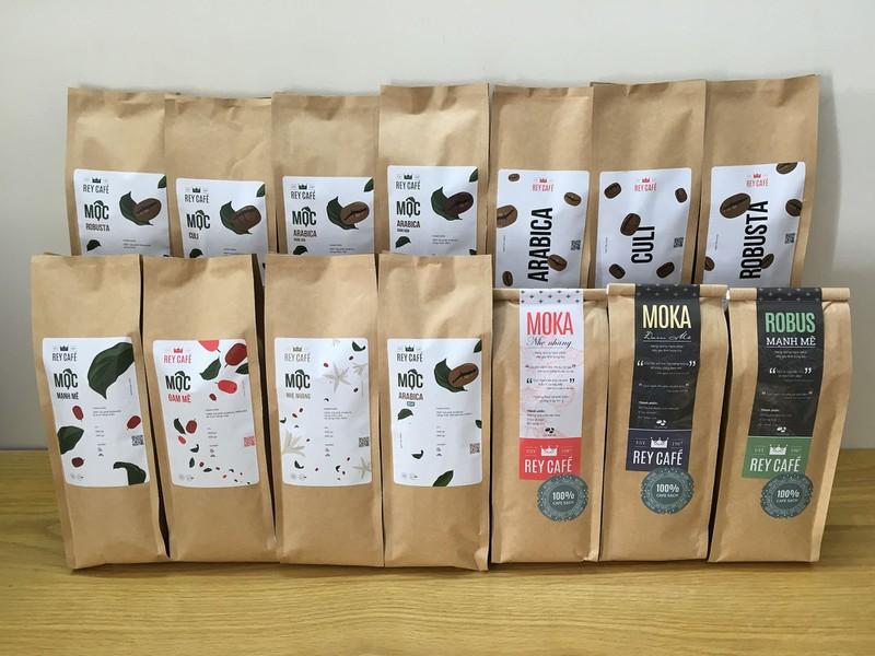 Cà phê Robus Mạnh Mẽ - Gói 500gr - Thành phần hạt Robusta & Culi nguyên chất có bơ - Thương hiệu Rey Cafe 4