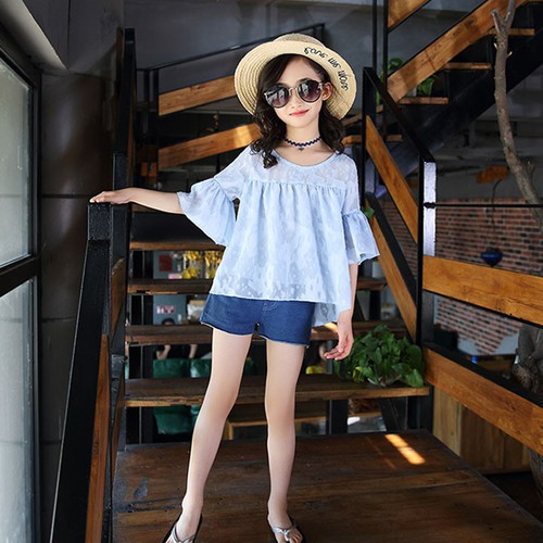 Quần áo bé gái _Áo bèo short  jeans sành điệu - 11662848 , 18731584 , 15_18731584 , 480000 , Quan-ao-be-gai-_Ao-beo-short-jeans-sanh-dieu-15_18731584 , sendo.vn , Quần áo bé gái _Áo bèo short  jeans sành điệu