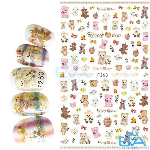 Miếng Dán Móng Tay 3D Nail Sticker Tráng Trí Hoạ Tiết Chú Gấu Dễ Thương Cute Bear F263 - 9037437 , 18704904 , 15_18704904 , 35000 , Mieng-Dan-Mong-Tay-3D-Nail-Sticker-Trang-Tri-Hoa-Tiet-Chu-Gau-De-Thuong-Cute-Bear-F263-15_18704904 , sendo.vn , Miếng Dán Móng Tay 3D Nail Sticker Tráng Trí Hoạ Tiết Chú Gấu Dễ Thương Cute Bear F263
