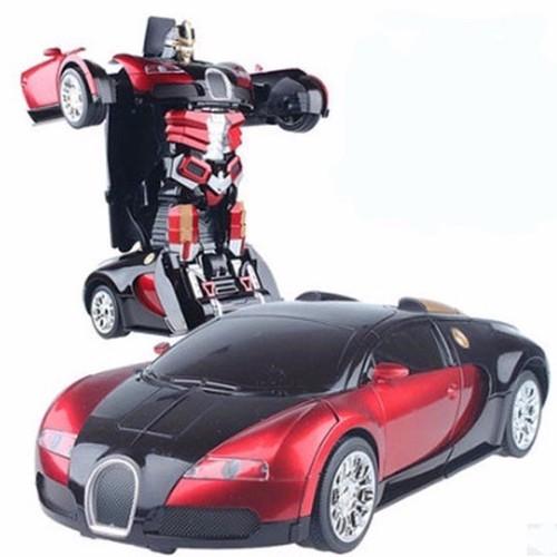 Đồ chơi ô tô biến hình thành siêu nhân robot quà tặng cho bé yêu