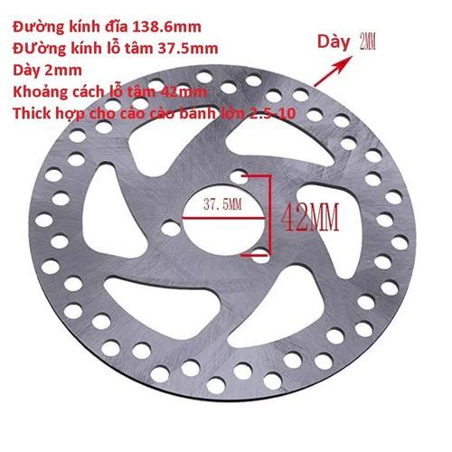 Đĩa Phanh xe cào cào mini D37,5mm