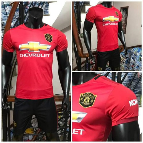 Bộ quần áo bóng đá Man Utd 2019-20 đỏ