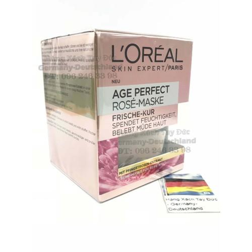 Mặt nạ kem dưỡng da LOreal Skin Expert Paris Age Perfect Rose-Maske hoa hồng chống lão hóa, xách tay Đức