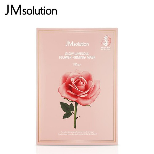 HỘP 10 MIẾNG MẶT NẠ HOA HỒNG LÀM SĂN CHẮC DA GLOW LUMINOUS FLOWER FIRMING MASK ROSE JM SOLUTION