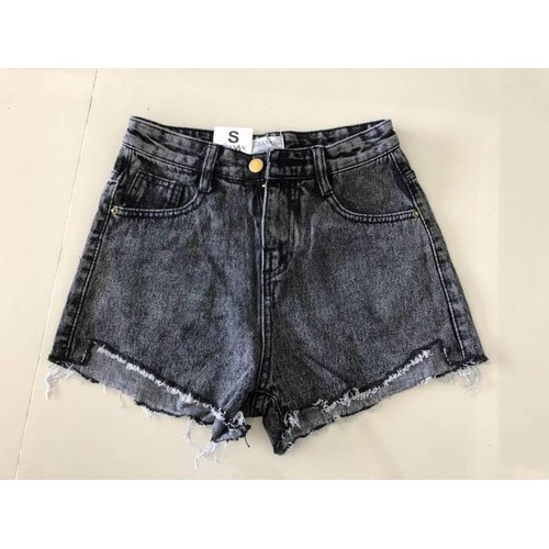 Quần short jean nữ màu xám trẻ trung