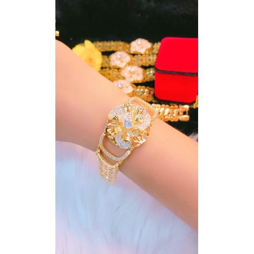 Lắc tay nữ kiểu hoa dát vàng 18k cao cấp - 9044754 , 18715513 , 15_18715513 , 350000 , Lac-tay-nu-kieu-hoa-dat-vang-18k-cao-cap-15_18715513 , sendo.vn , Lắc tay nữ kiểu hoa dát vàng 18k cao cấp