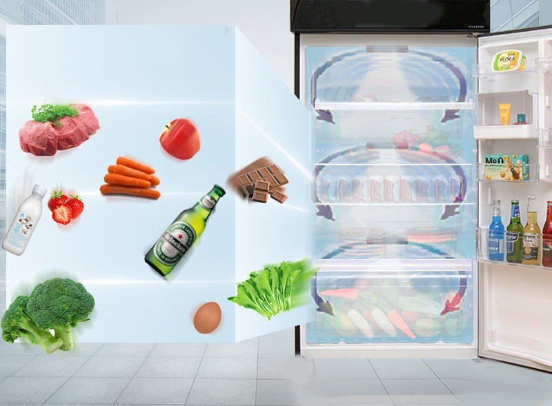 Tủ lạnh Toshiba Inverter 180L GR-B22VU UK 4