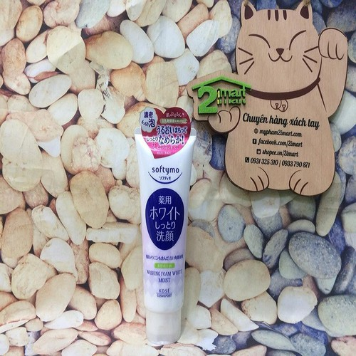 Sữa Rửa Mặt Dưỡng Ẩm-Trắng Da Kose Softymo Washing Foam White Moist 150g Japan