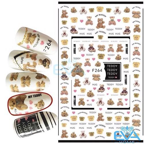 Miếng Dán Móng Tay 3D Nail Sticker Tráng Trí Hoạ Tiết Chú Gấu Dễ Thương Cute Bear F264 - 9037634 , 18705135 , 15_18705135 , 35000 , Mieng-Dan-Mong-Tay-3D-Nail-Sticker-Trang-Tri-Hoa-Tiet-Chu-Gau-De-Thuong-Cute-Bear-F264-15_18705135 , sendo.vn , Miếng Dán Móng Tay 3D Nail Sticker Tráng Trí Hoạ Tiết Chú Gấu Dễ Thương Cute Bear F264