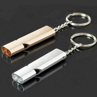 Còi sinh tồn ống kép móc khóa kim loại - Còi sinh tồn thumbnail