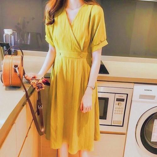 Đầm suông ôm eo dưới 55kg xds393