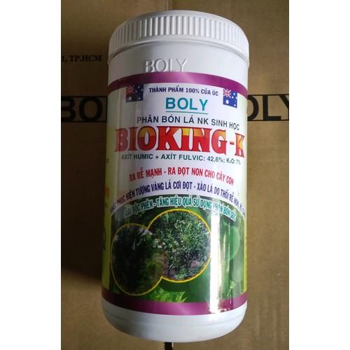 Phân bón BIOKING - K Cây có múi 1 kg: Kali humat cho cây trồng giúp ra rễ, giải độc phèn, ngộ độc hữu cơ