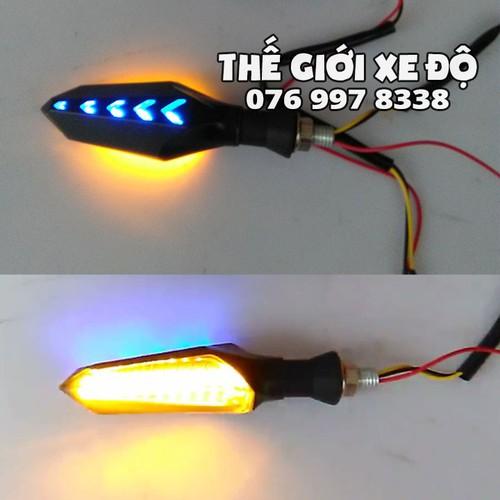Đèn xinhan exciter 150 kiểu xi nhan audi - xinhan ex 150 hiệu ứng led audi