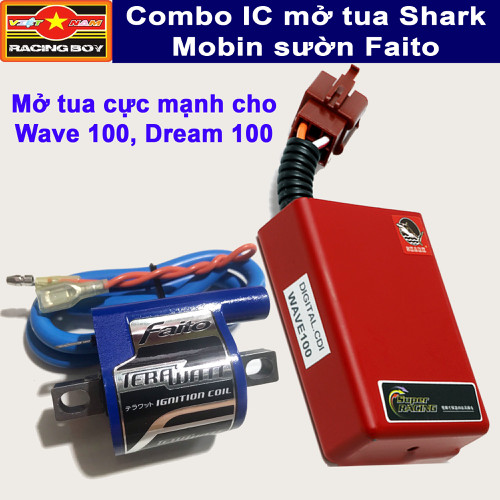 Combo mở tua Dream, Wave 100 - IC Shark và Mobin Faito