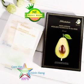 Mặt nạ giấy chiết xuất Bơ dưỡng da mặt JM Solution Water Luminous Avocado Nourishing In Oil Mask  - matnabo