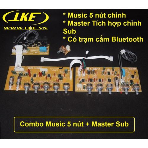 Combo Music 5 nút chỉnh + master tích hơp subwoofer LKE