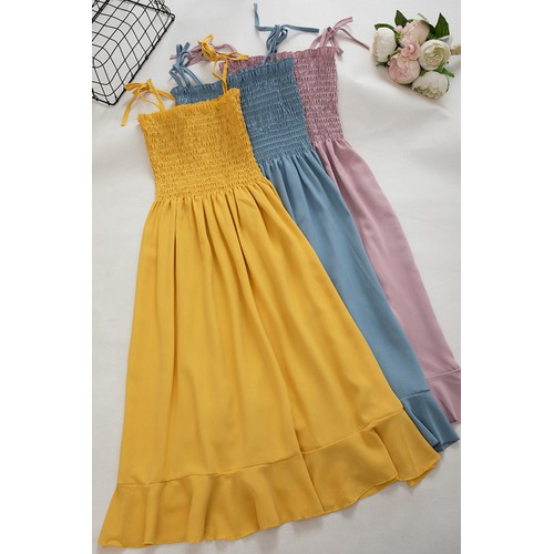 Đầm dây nhún - Hàng Thái