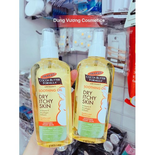 Dầu Palmer's Soothing Oil For Dry & Itchy Skin dành cho da khô và ngứa khi mang thai Palmer's Soothing Oil For Dry & Itchy Skin