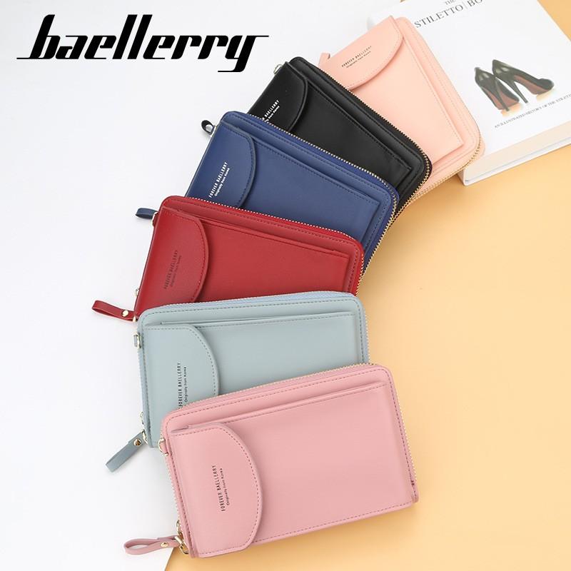 ví đeo chéo mini dáng đứng, để vừa điện thoại smartphone, iphone hiệu Baellerry