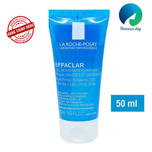 Sữa rửa mặt tạo bọt dạng gel dành cho da dầu mụn nhạy cảm La Roche-Posay Effaclar Purifying Foaming Gel 50ml - 9052457 , 18726373 , 15_18726373 , 175000 , Sua-rua-mat-tao-bot-dang-gel-danh-cho-da-dau-mun-nhay-cam-La-Roche-Posay-Effaclar-Purifying-Foaming-Gel-50ml-15_18726373 , sendo.vn , Sữa rửa mặt tạo bọt dạng gel dành cho da dầu mụn nhạy cảm La Roche-Posay